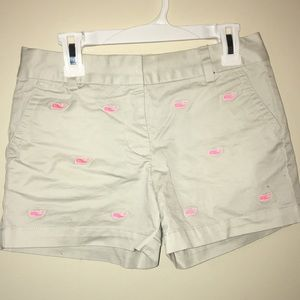 Girls vineyard vine whale embroidered shorts
